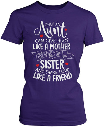 Only An Aunt Can - Women's Fit T-Shirt / Purple / S