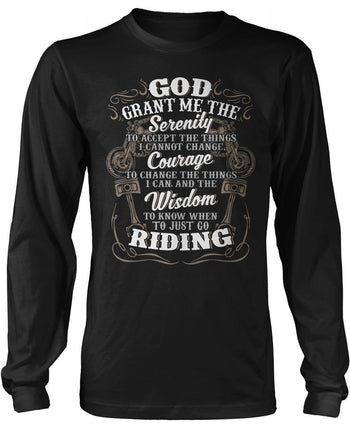 Motorcycle Serenity - Special Edition (Front Print) Long Sleeve T-Shirt