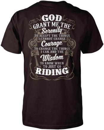 Motorcycle Serenity - Special Edition (Back Print) - Premium T-Shirt / Dark Chocolate / S