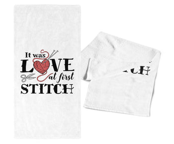 It Was Love At First Stitch - Kitchen Towel