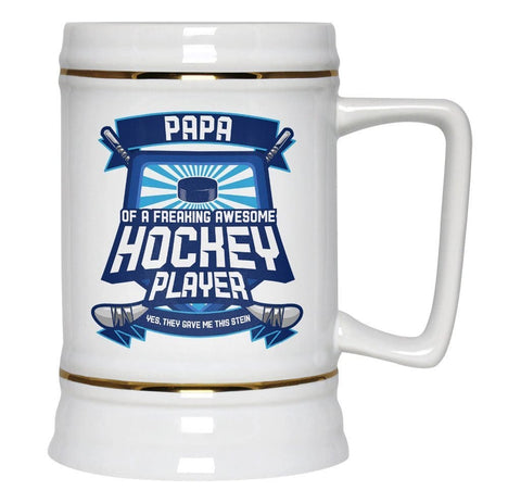 (Nickname) of An Awesome Hockey Player - Beer Stein - Beer Steins