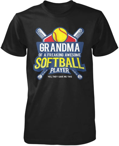 (Nickname) of an Awesome Softball Player - T-Shirt - T-Shirts