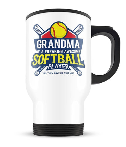 (Nickname) of an Awesome Softball Player - Travel Mug - Travel Mugs