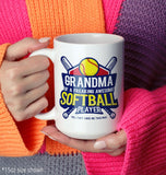 (Nickname) of an Awesome Softball Player - Mug - Coffee Mugs