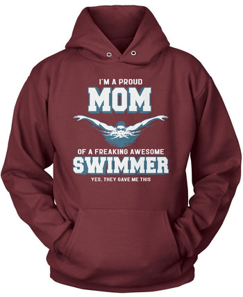 Proud (Nickname) of an Awesome Swimmer - T-Shirt - [variant_title]