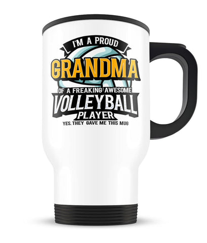 Proud (Nickname) of an Awesome Volleyball Player - Personalized Travel Mug