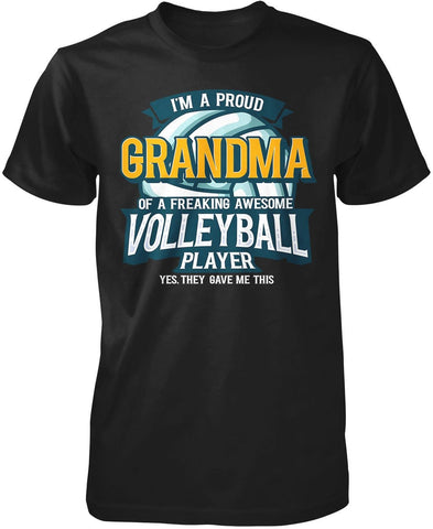 Proud (Nickname) of an Awesome Volleyball Player - Personalized Premium T-Shirt