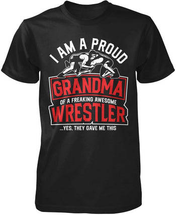 Proud (Nickname) of an Awesome Wrestler - Personalized T-Shirt