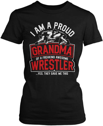 Proud (Nickname) of an Awesome Wrestler - Personalized Women's Fit T-Shirt