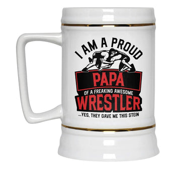 Proud (Nickname) of an Awesome Wrestler - Personalized Beer Stein - [variant_title]