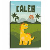 Baby Dinosaur - Personalized Canvas - Baby or Child Gift Idea