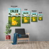 Baby Dinosaur - Personalized Canvas