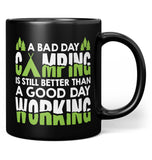 A Bad Day Camping - Mug - Black / Regular - 11oz