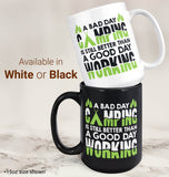 A Bad Day Camping - Mug - Coffee Mugs