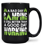 A Bad Day Camping - Mug - Black / Large - 15oz