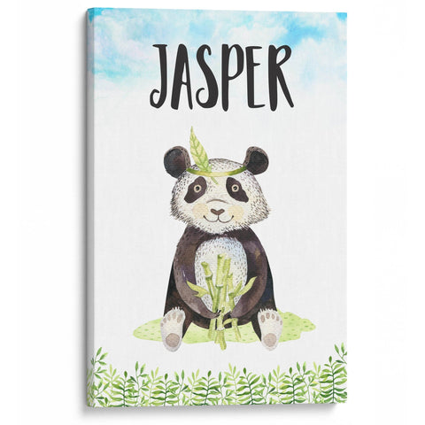 Bamboo Panda - Personalized Canvas - Canvases