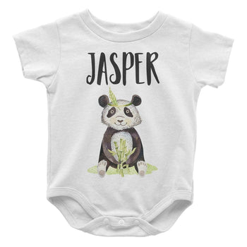 Bamboo Panda - Personalized Baby Bodysuit - Baby Apparel