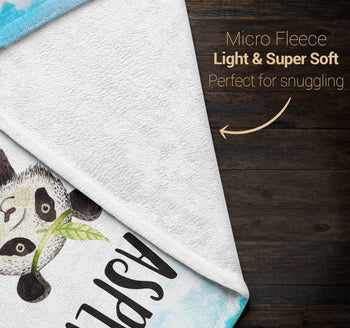 Bamboo Panda - Personalized Blanket - Blankets
