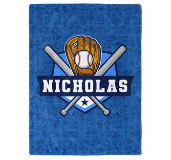 Baseball - Personalized Blanket