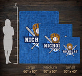 Baseball - Personalized Blanket - [variant_title]