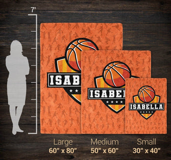 Basketball - Personalized Blanket - Blankets