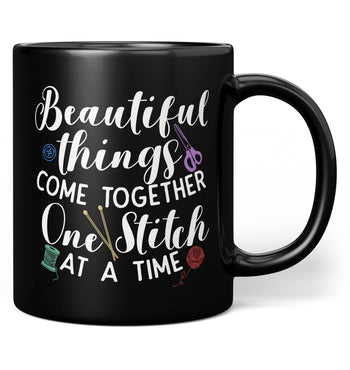 One Stitch At a Time - Mug - Black / Regular - 11oz