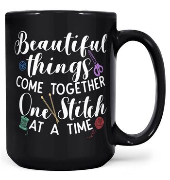 One Stitch At a Time - Mug - Black / Large - 15oz