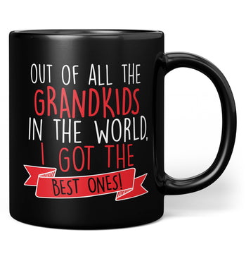 The Best Grandkids In the World - Mug - Black / Regular - 11oz