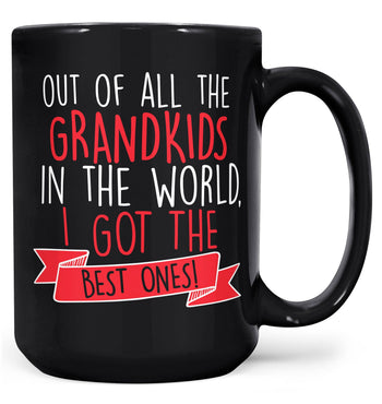 The Best Grandkids In the World - Mug - Black / Large - 15oz
