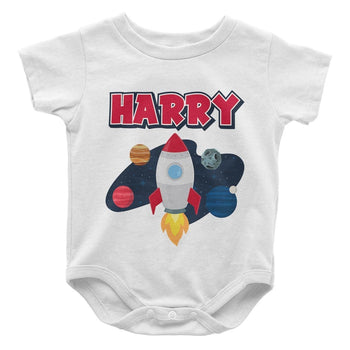 Blast Off - Personalized Baby Bodysuit - Baby Apparel