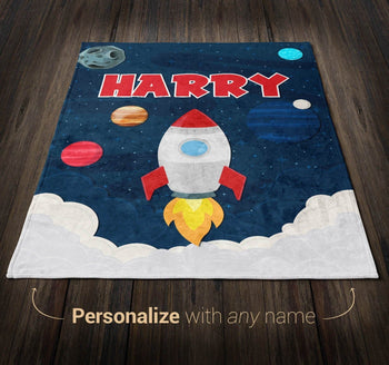 Blast Off - Personalized Blanket - Blankets