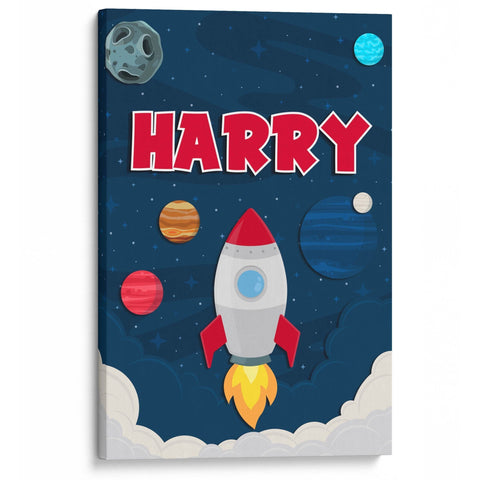 Blast Off - Personalized Canvas - Canvases