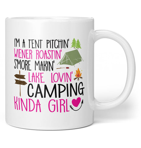 I'm a Camping Kinda Girl - Coffee Mug / Tea Cup