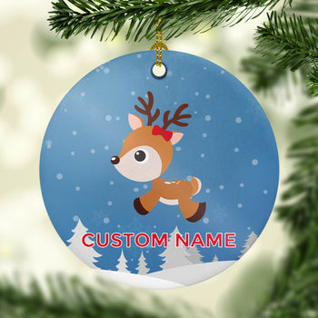 Christmas Reindeer - Personalized Ornament