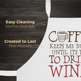 Coffee Until Wine - Apron - Aprons