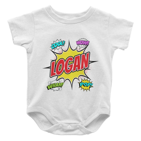 Comic Superhero - Personalized Baby Bodysuit - Baby Apparel