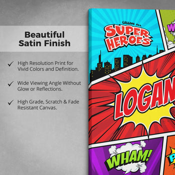 Comic Superhero - Personalized Canvas - Canvases