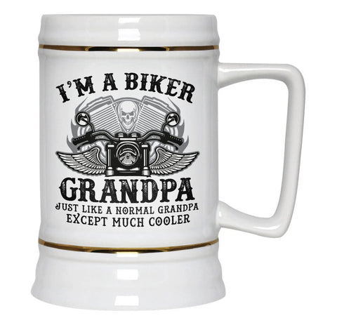 I'm a Cool Biker (Nickname) - Personalized Beer Stein