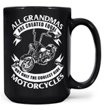 Only The Coolest (Nickname)s Ride Motorcycles - Female - Mug - Black / Large - 15oz