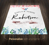Wedding Anniversary - Personalized Blanket - [variant_title]
