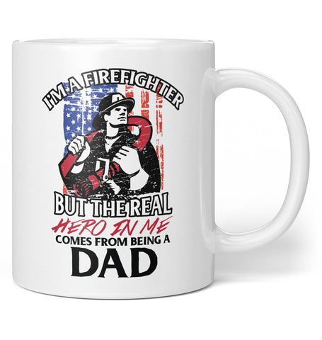 Hero (Nickname) Firefighter - Mug - Coffee Mugs