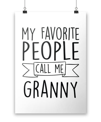 My Favorite People Call Me Granny - Poster