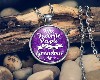My Favorite People Call Me Grandma - Pendant Necklace - [variant_title]