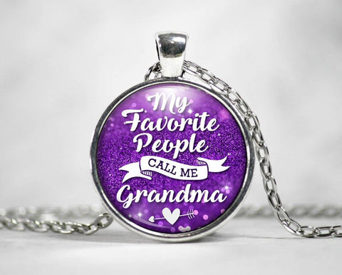 My Favorite People Call Me Grandma - Pendant Necklace