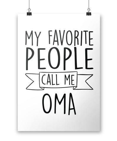 My Favorite People Call Me Oma - Poster