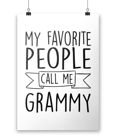 My Favorite People Call Me Grammy - Poster