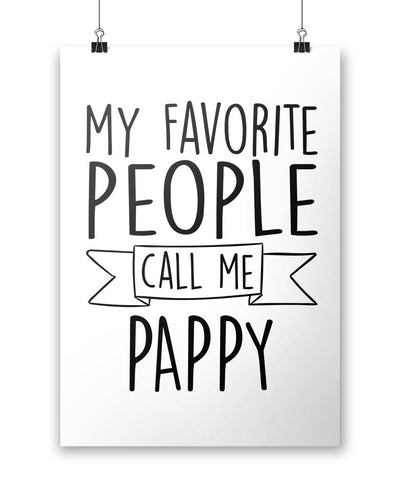 My Favorite People Call Me Pappy - Poster