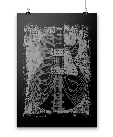 Guitar X-Ray - Poster - Posters