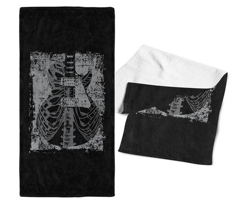 Guitar X-Ray - Gym / Gig Towel - Towels