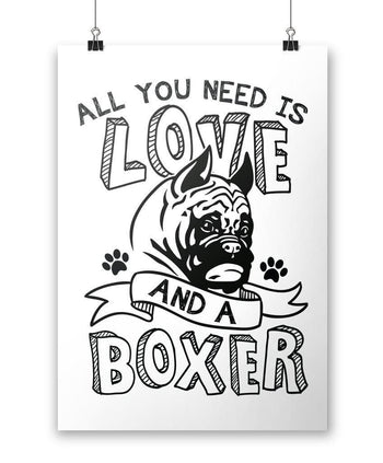 All You Need Is Love and a Boxer - Poster - Posters